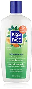 Kiss My Face Whenever Conditioner, Natural Conditioner with Green Tea & Lime, 11 Ounce (Pack of 3)