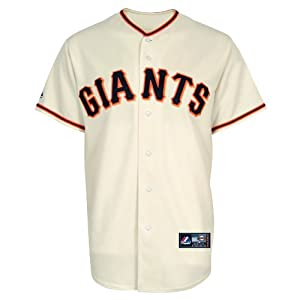 MLB San Francisco Giants Home Replica Baseball Youth Jersey, Ivory by Majestic