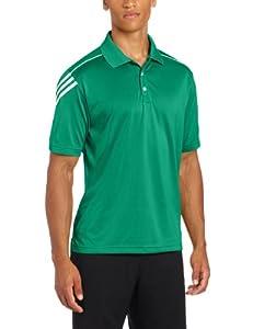 adidas Golf Men's Climacool 3-Stripe Jersey Polo, Celtic/White, XX-Large