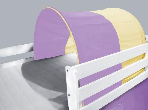 Tunnel / grotte pour lit surélevé - Lit de jeu violet/beige - TSG-53