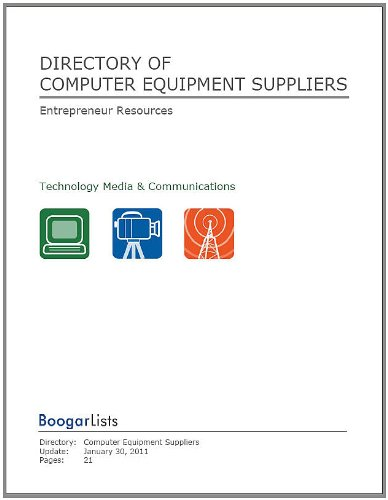 Directory of Computer Equipment Suppliers (BoogarLists)