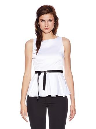 Nife Elegante Ärmellose Bluse, weiß, Größe 44. Bitte beachten Sie bei der Bestellung die Masse in der Beschreibung!