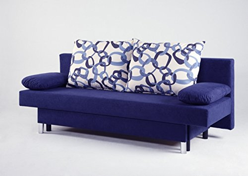 Schlafsofa Sofaliege Funktionscouch Bella blau günstig kaufen