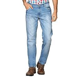 Provogue Men's Slim Fit Jeans (8903522452307_103687-BL-24_38W x 33L_Blue)