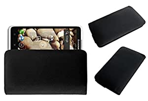 Acm Rich Leather Soft Case For Lenovo S890 Mobile Handpouch Cover Carry Black