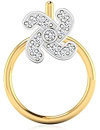 IskiUski Nose Pin Ring Collection Asmita Pure 925 Silver Nose Pin For Women