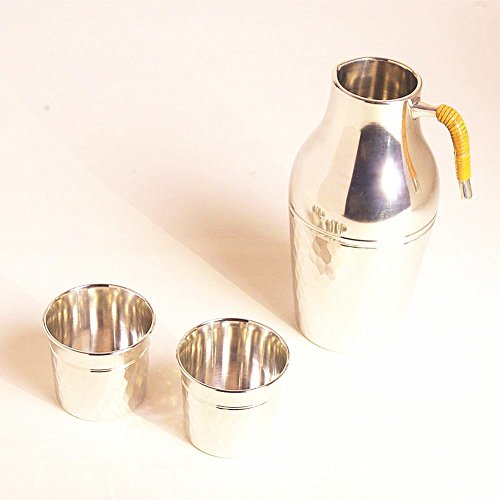 [Edo-Japan Traditional Crafts] Hand-carved Initials Tin Sake cup set (Small) with Initials (Both cups)