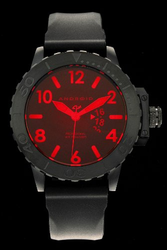 Android Men's Divemaster Trans-52 Limited Edition Night Vision Quartz Rubber Strap Watch