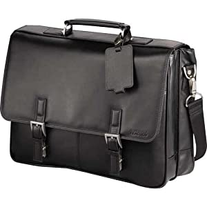 "Kenneth Cole® Manhattan Leather 15.6"" Laptop Computer Messenger- Black by Superdrals"