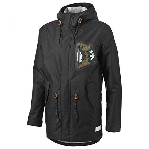 Da uomo adidas origainals a 3strati impermeabile con cappuccio giacca Parka RRP 200, Black / Camo, M
