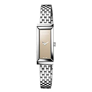 Gucci G-Frame Collection Women's Quartz Watch with Brown Dial Analogue Display and Stainless Steel Bracelet YA127501