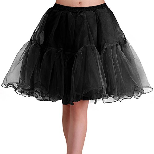 "EA Selection Womens 50s Vintage Rockabilly Petticoat, 19"" Length Underskirt"