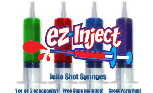 50 Pack EZ-InjectTM Jello Shot Syringes (Medium 1.5oz)