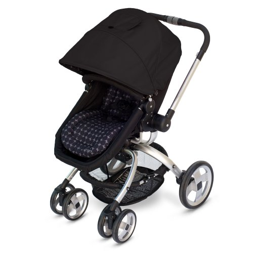 JJ Cole Broadway Stroller, Black/Gray Drops