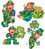 St Patrick s Day Leprechaun 16 Cutout Set of 4