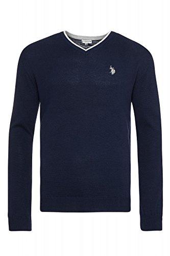 us-polo-assn-v-neck-sweater-herren-pullover-sweatshirt-navy-mit-ellenbogen-patch-173-42619-51894-177