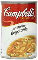 Campbell\'s Condensed Soup, Vegetarian Vegetable, 10.5 Ounce (Pack of 12)