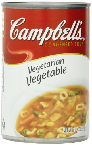 Campbell's Condensed Soup, Vegetarian Vegetable, 10.5 Ounce (Pack of 12) (Red Pack Tomato Paste compare prices)