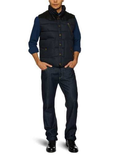 Selected Homme Jeans Munich C Men's Gilet Dark Navy Medium