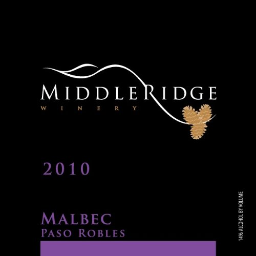 2010 Middle Ridge Winery Malbec, Paso Robles 750 Ml