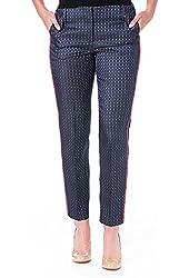 Elizabeth & James Womens Dion Jacquard Loose Fit Cropped Pants