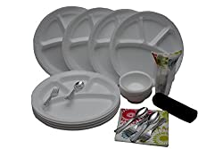 Amit Disposable laminated heavy - Designed To Serve,[plates,bowl,glasses,spoon,fork,napkin,[155pc] 12 Size