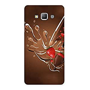Special Straberry And Chocolates Multicolor Back Case Cover for Galaxy A7