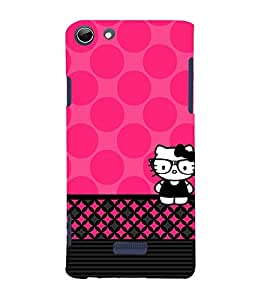Spects Cat Pink Pattern 3D Hard Polycarbonate Designer Back Case Cover for Micromax Canvas Selfie 3 Q348