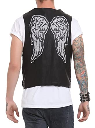 Amazon.com: The Walking Dead Daryl Dixon PU Vest Size : Small: Adult