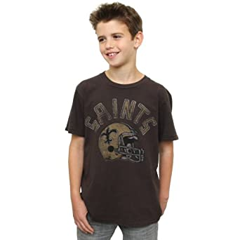 NFL New Orleans Saints Youth Kickoff Crew T-Shirt, BKWA, 3T by Junk Food