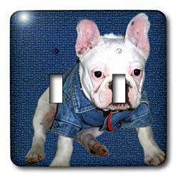 Dogs Bulldog - French Bulldog Puppy - Light Switch Covers - double toggle switch