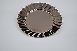 Disposable Plastic Round Plates 12 Pcs