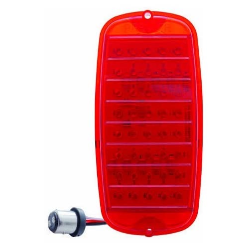 LED TAIL LIGHT WITH RED LENS FITS 1960 66 CHEVY FLEETSIDE PICKUP TRUCK