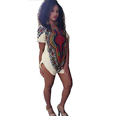 Blooming Jelly Women's Summer Style Stretch Loose Print T Shrit Dress Plus Size