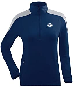 Brigham Young Ladies Succeed 1 4 Zip Performance Pullover (Team Color) by Antigua