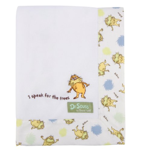 Trend Lab Dr. Seuss The Lorax Framed Receiving Blanket, Natural