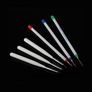 1X Kit Set 6 Piezas Lápiz Pincel Pintura Pinta Arte Uña Manicura