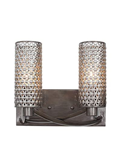 Varaluz Casablanca 2-Light Wall Sconce, Steel