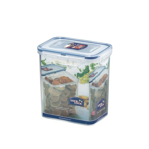Lock & Lock 51-Ounce Bpa Free Rectangular Food Container With Leak Proof Locking Lid, 6.2-Cup,