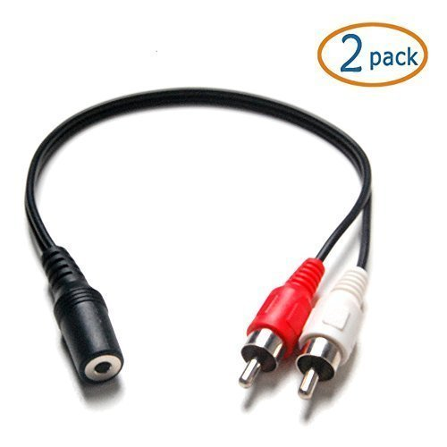 stereo to dual rca 6 inch audio adapter cable import it all. Black Bedroom Furniture Sets. Home Design Ideas