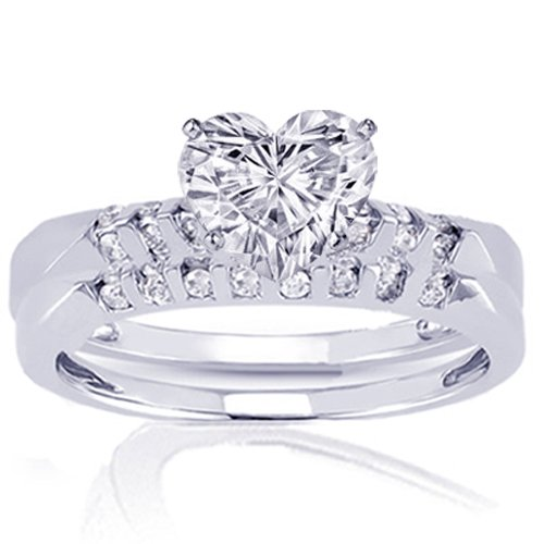 bling jewelry sterling silver cz pave heart engagement