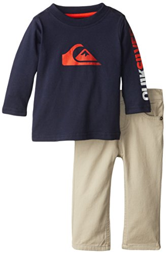 Quiksilver Baby-Boys Infant Navy Long Sleeve Tee With Pants, Navy, 24 Months front-593508