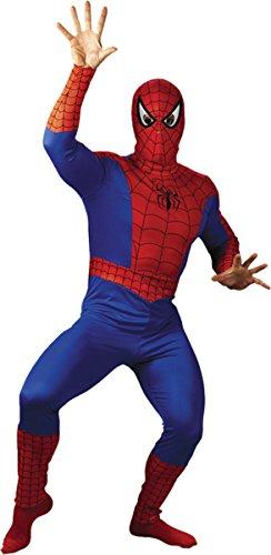 Morris Costumes Men's SPIDER-MAN ADULT COSTUME, Red/Blue/Black, 46