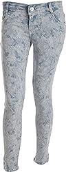 EBONY Women's Slim Jeans (7004_32, Grey, 32)