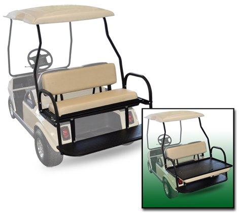 Golf Cart Rear Seat Club Car DS White Cushions