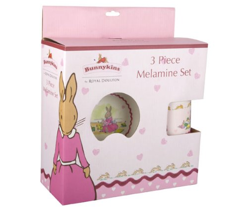 Great Gizmos Bunnykins 3 Piece Melamine Set (Sweetheart)