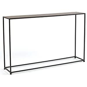 Tag urban narrow console table coco brown for 10 inch console table