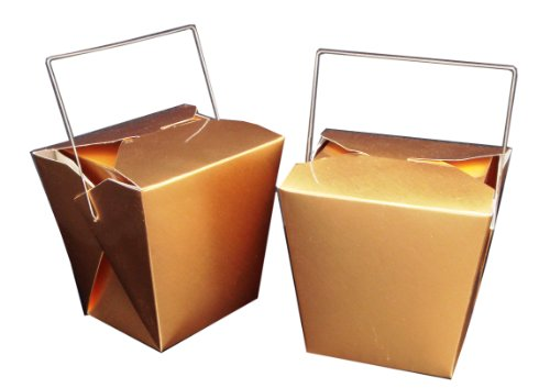 WeGlow International Chinese Food Decoration Box Gold (5 pieces)