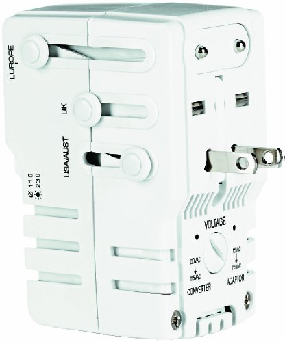 Travel Smart By Conair Adapter/Converter Combo with Surge Protection