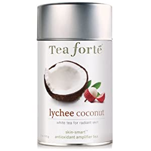 Tea Forte Skin Smart Loose Tea Canister-Lychee Coconut, 3.5 oz, 50 servings by Tea Forte